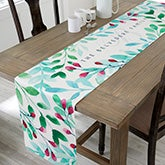 Spring Floral Personalized Table Runner - 20267