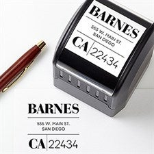 Personalized Address Stamp - Modern Square - 20294