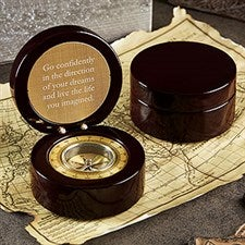 Personalized Compass - Custom Engraved Message - 20325