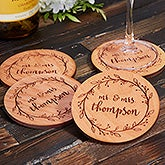 Personalized Wood Coasters Wedding Favors - 20399