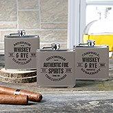 Vintage Distillery Leatherette Personalized Flask - 20413