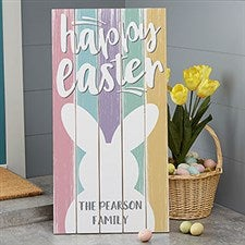Personalized Wood Pallet Signs - Happy Easter - 20421