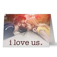 Personalized Photo Card - I Love Us - 20454