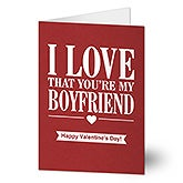 Personalized Card - I Love That You're My Guy - 20455