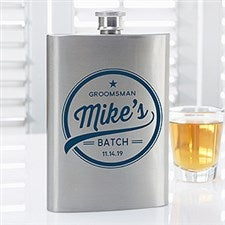 Groomsmen Brewing Co Personalized Flask - 20463