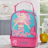 Embroidered Mermaid Lunch Bag For Kids - 20464