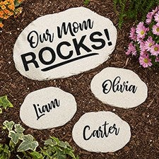 Personalized Garden Stones - Our Mom Rocks - 20467