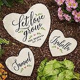 Personalized Heart Garden Stones - Let Love Grow - 20471
