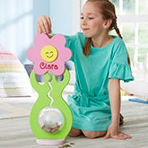 Large Personalized Piggy Bank For Girls - Flower - 20476
