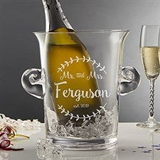 Engraved Crystal Ice Bucket & Chiller - Mr & Mrs - 20486
