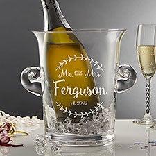 Engraved Crystal Ice Bucket & Chiller - Mr & Mrs - 20486