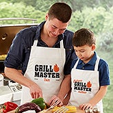 Personalized Father & Son Matching Grill Aprons & Potholders - 20488