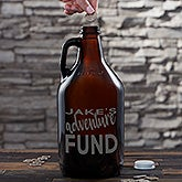 Personalized Beer Growler Piggy Bank For Adults - 20497