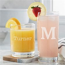 Personalized Drinking Glasses - Classic Celebrations - 20532