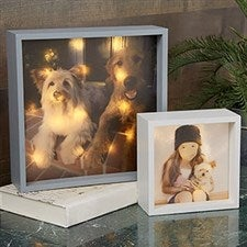 Personalized Pet Photo LED Light Shadow Box - 20534