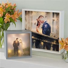 Personalized Wedding Photo LED Light Shadow Box - 20535