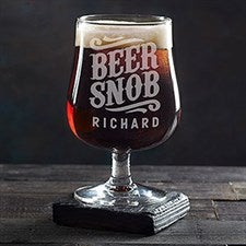 Personalized Craft Beer Glass - Beer Snob - 20544