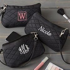 Personalized Embroidered Quilted Wristlet - 20548