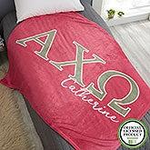 Alpha Chi Omega Personalized Greek Letter Blankets - 20550