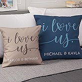 I Love Us Personalized Throw Pillow - 20563