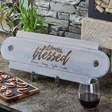 Personalized Wooden Serving Board - Cozy Kitchen - 20575