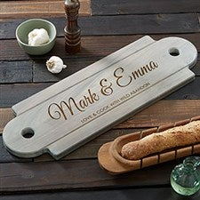 Personalized Wooden Serving Board - Classic Couple - 20577