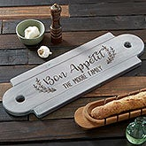 Personalized Wooden Serving Board - Rustic Farmhouse - 20579