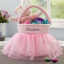 Pink Tutu Personalized Easter Basket - 20580