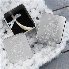 My First Tooth & Curl Personalized Keepsake Boxes - 20582