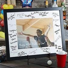 Personalized Signature Photo Frame - Birthday Wishes - 20583