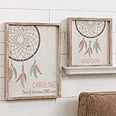 Personalized Baby Name Wall Art - Boho Dreamcatcher - 20587