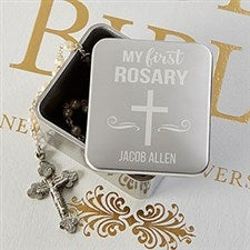 Personalized Rosary Box - My First Rosary - 20592