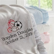 All Star Sports Personalized Baby Blanket - 20596