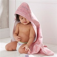 Personalized Baby Hooded Towel - Modern Girl - 20609