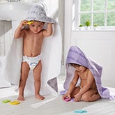 Personalized Hooded Towel - Playful Name - 20611
