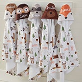 Personalized Hooded Towels - Woodland Adventure - 20618