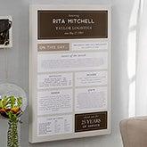 Personalized Retirement Gift - Retirement Chronicle Print - 20623