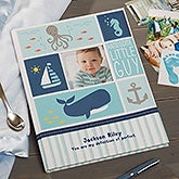 Personalized Baby Boy Memory Book - Under The Sea - 20629