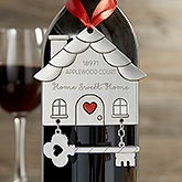 Happy New Home Personalized Ornament Wine Tag - 20634