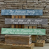 Rustic Winter Personalized Wooden Sign - 20645