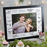 Personalized Wedding Autograph Photo Frame - 20647