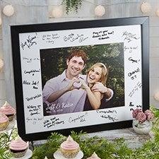 Personalized Wedding Autograph Photo Frame - 20647