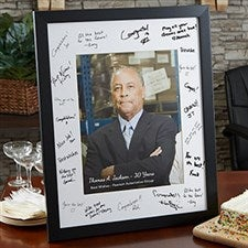 Personalized Retirement Signature Picture Frame - 20650