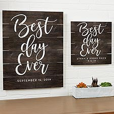 Personalized Wooden Shiplap Best Day Ever Sign - 20678