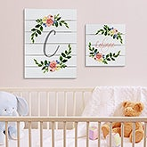 Personalized Shiplap Signs - Floral Baby - 20680