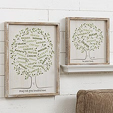 Family Tree Of Life Personalized Framed Wall Art - 20681