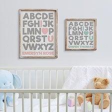 Baby Alphabet Secret Message Personalized Wall Art - 20684