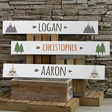 Woodland Adventure Personalized Wood Signs - 20690