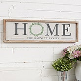 Personalized HOME Wreath Wooden Wall Art Sign - 20691