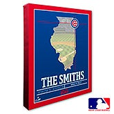 Chicago Cubs Personalized MLB Wall Art - 20698